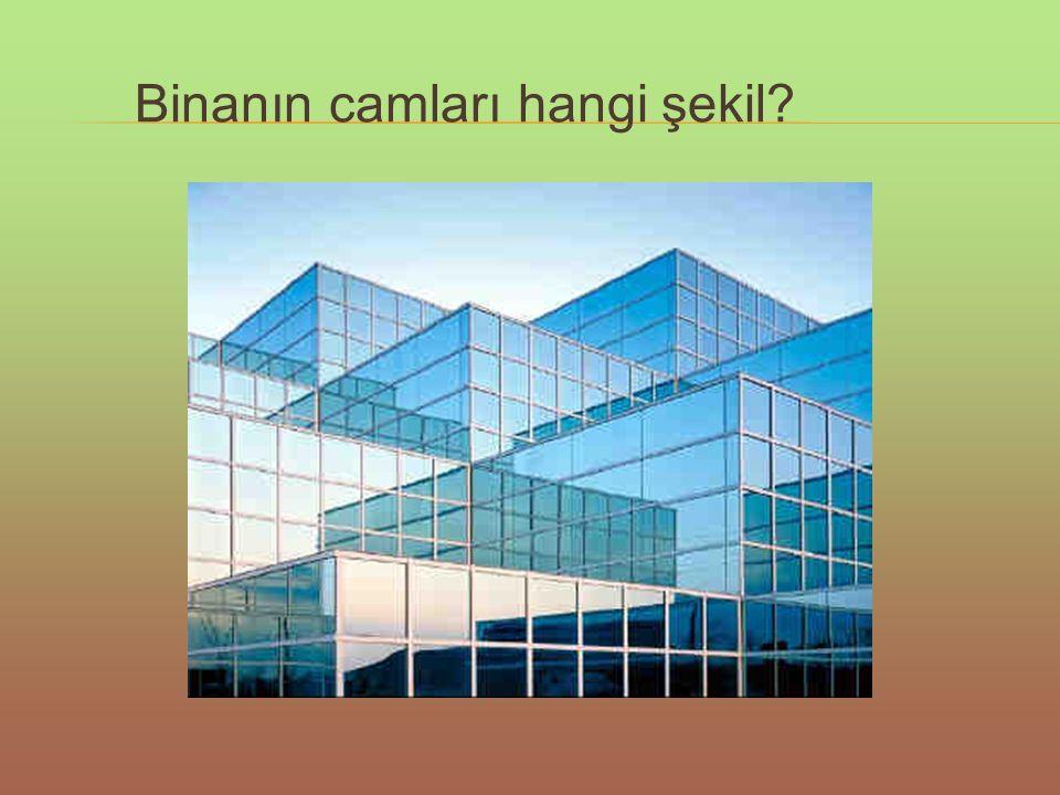 Binanın camları hangi şekil?