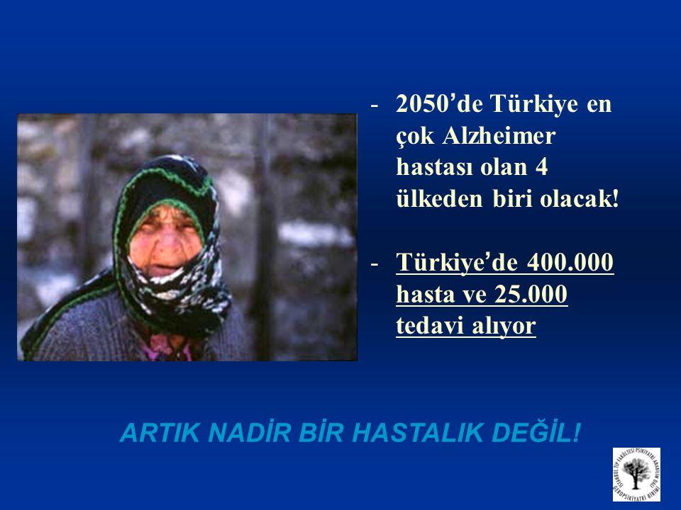 -2050 ' de Türkiye en çok Alzheimer hastası olan 4 ülkeden biri olacak.