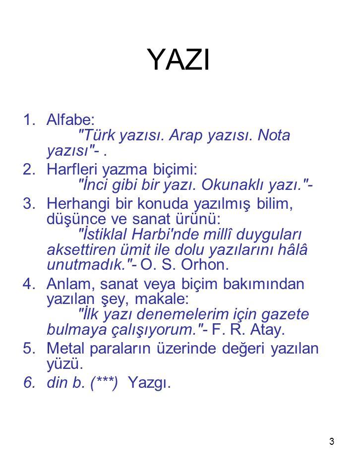 3 YAZI 1.Alfabe: