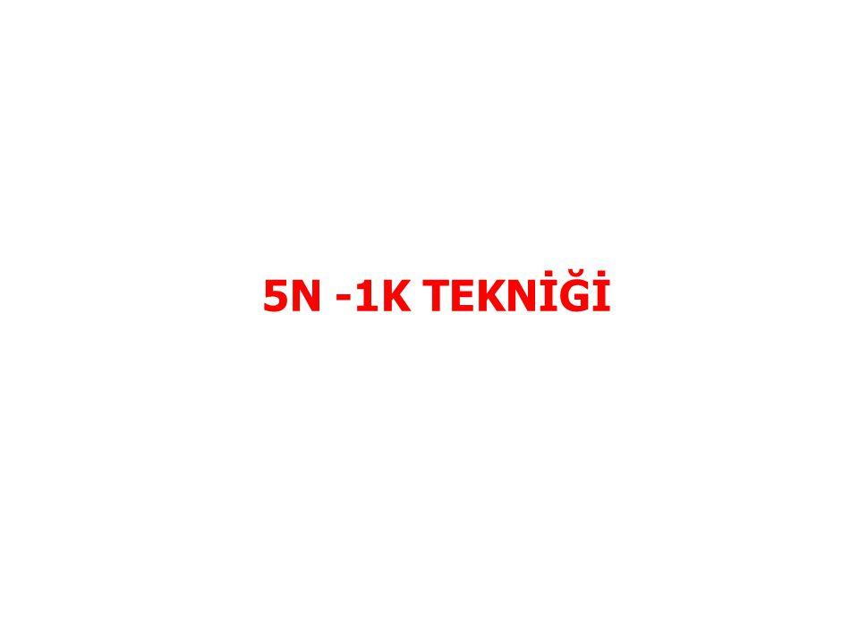 5N -1K TEKNİĞİ