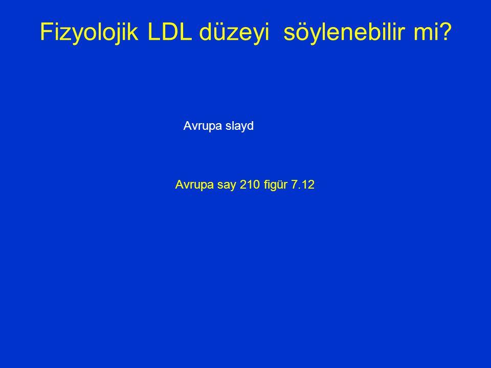 Fizyolojik LDL düzeyi söylenebilir mi? Avrupa slayd Avrupa say 210 figür 7.12