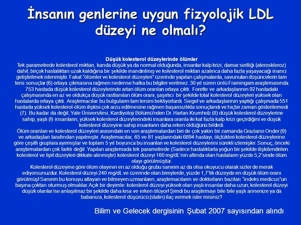 İnsanın genlerine uygun fizyolojik LDL düzeyi ne olmalı.