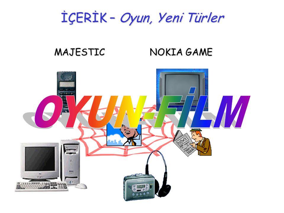 İÇERİK – Oyun Elektronik Oyunların Çekiciliğinin Temeli Gerçek hayatta yapamadığımız şeyleri yaşayabiliyoruz.