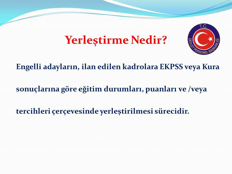 EKPSS, Kura ve Merkezi Yerleştirme İşlemleri Hangi Kurum Tarafından Yapılmaktadır.