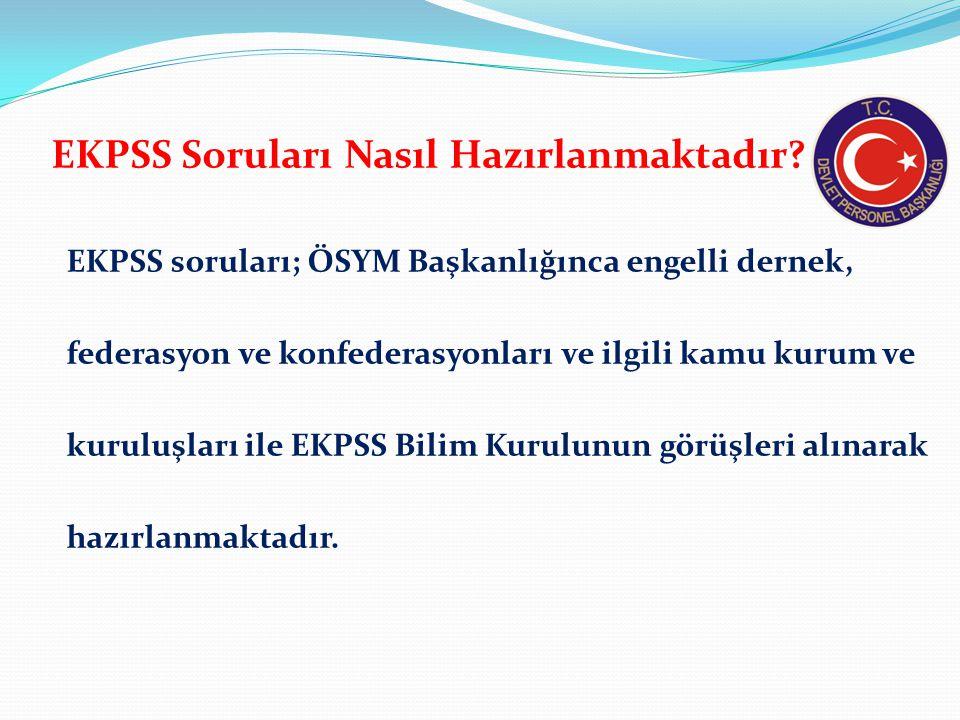 EKPSS'de Hangi Testler Uygulanmaktadır.
