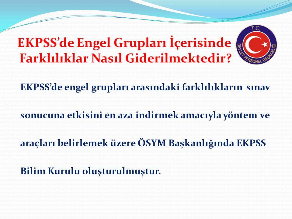 EKPSS Bilim Kurulu Kimlerden Oluşturulmuştur.