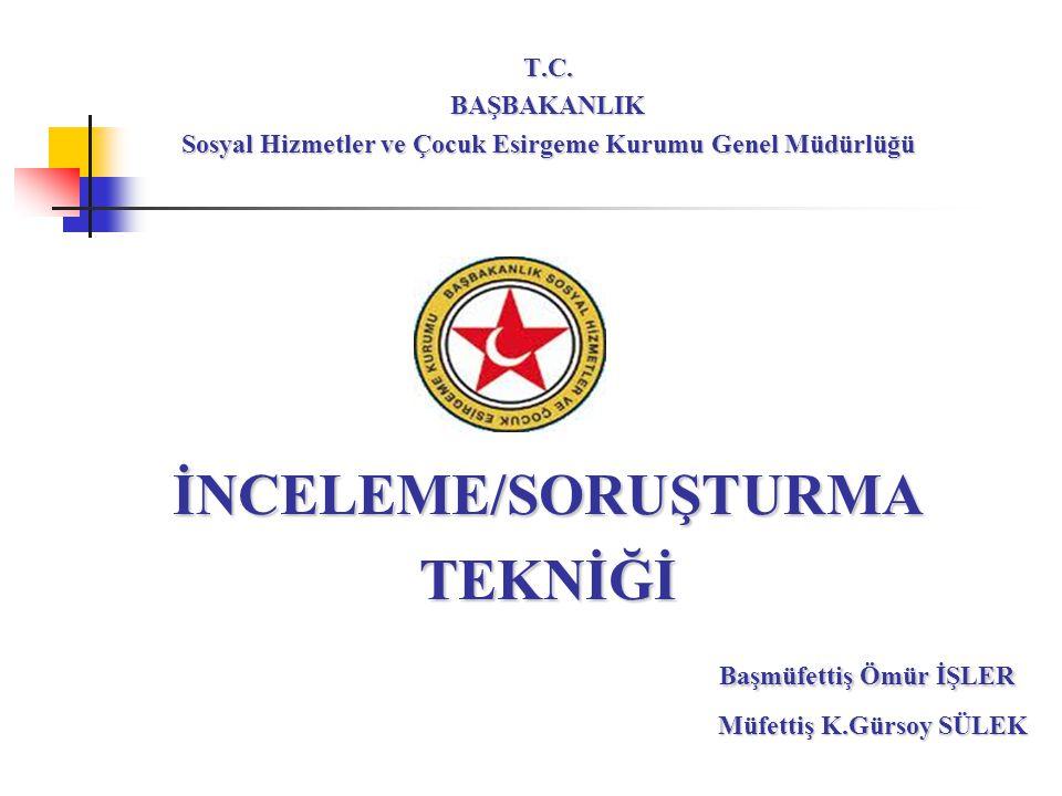 12 SORUŞTURMA YAPILMASI 657 sayılı Devlet Memurları Kanunu'nun 124-136.
