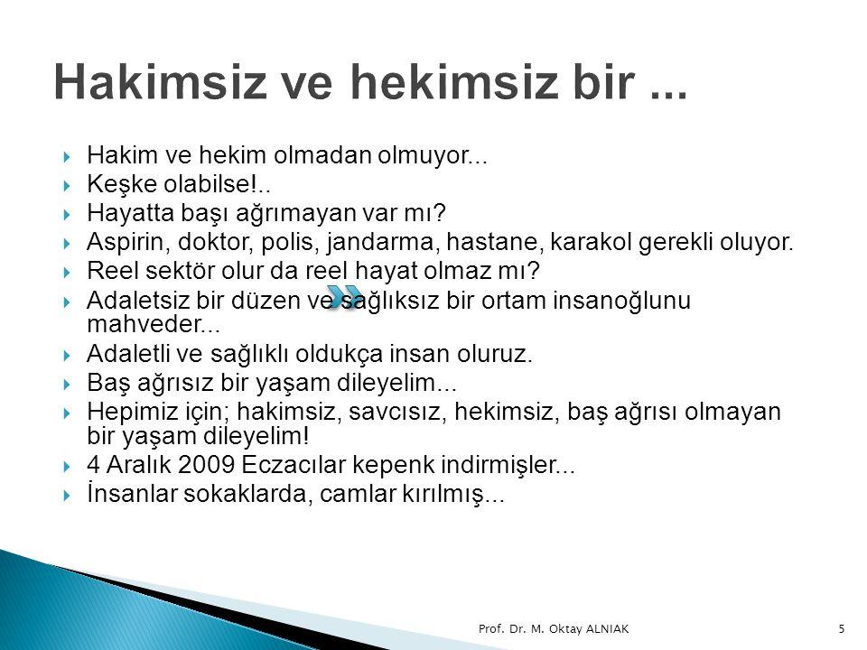 Prof. Dr. M. Oktay ALNIAK56 8. SONUÇ