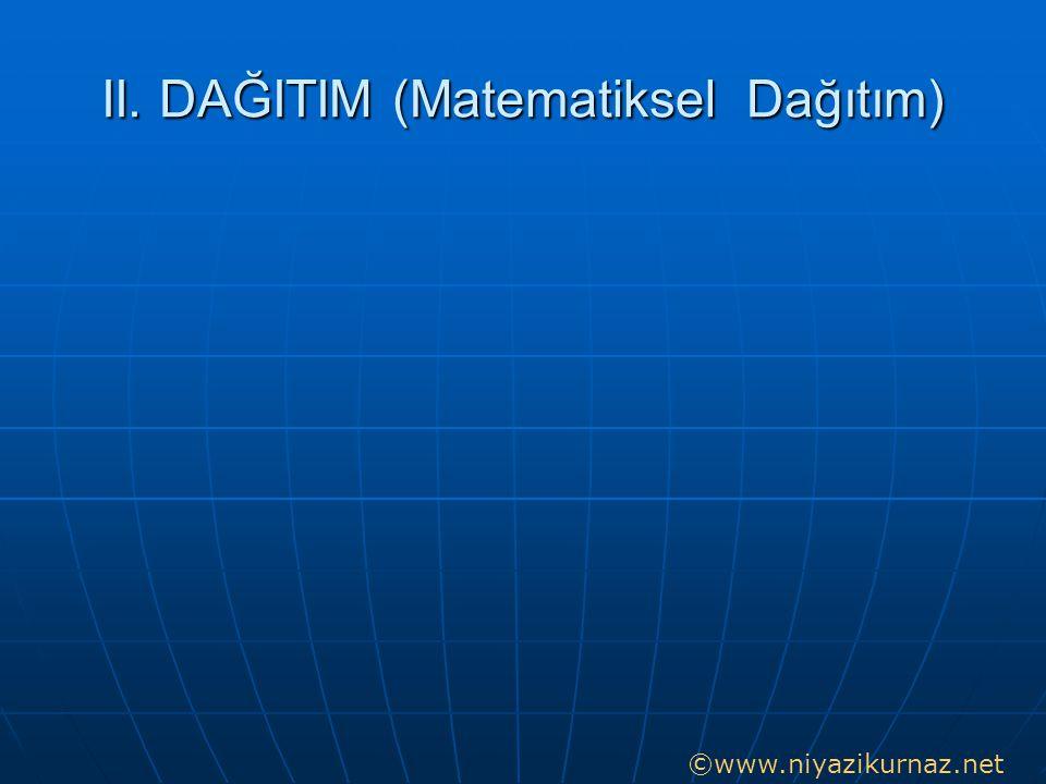II. DAĞITIM (Matematiksel Dağıtım) ©www.niyazikurnaz.net
