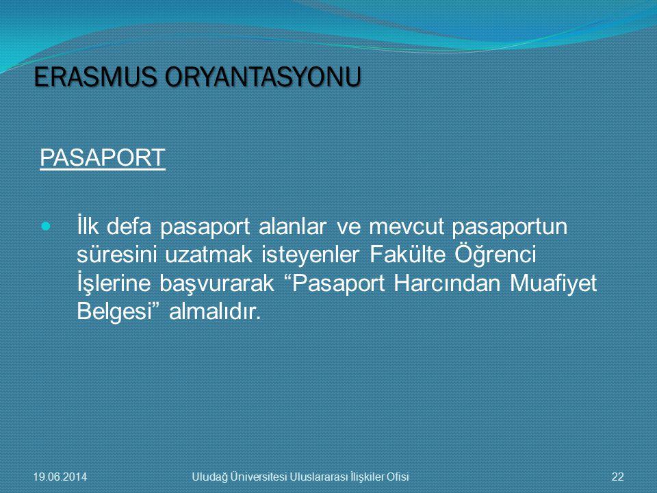 """PASAPORT  İlk defa pasaport alanlar ve mevcut pasaportun süresini uzatmak isteyenler Fakülte Öğrenci İşlerine başvurarak """"Pasaport Harcından Muafiyet"""