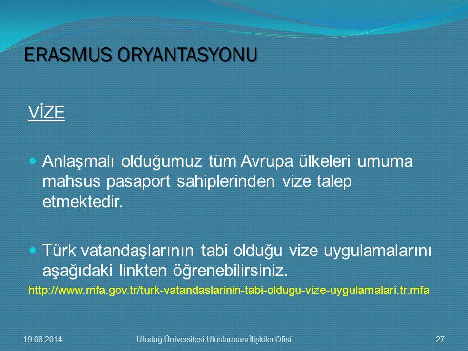 VİZE  Anlaşmalı olduğumuz tüm Avrupa ülkeleri umuma mahsus pasaport sahiplerinden vize talep etmektedir.  Türk vatandaşlarının tabi olduğu vize uygu