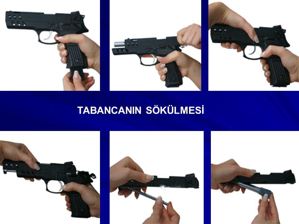 2-) Gez ve arpacık tabancanın hangi ana parçası üzerinde bulunur.