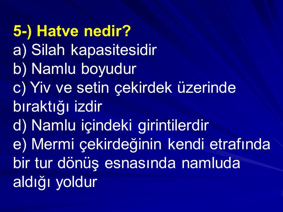 5-) Hatve nedir.