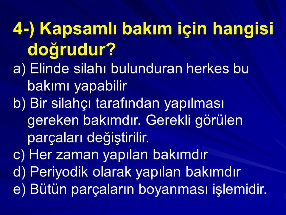 4-) Kapsamlı bakım için hangisi doğrudur.