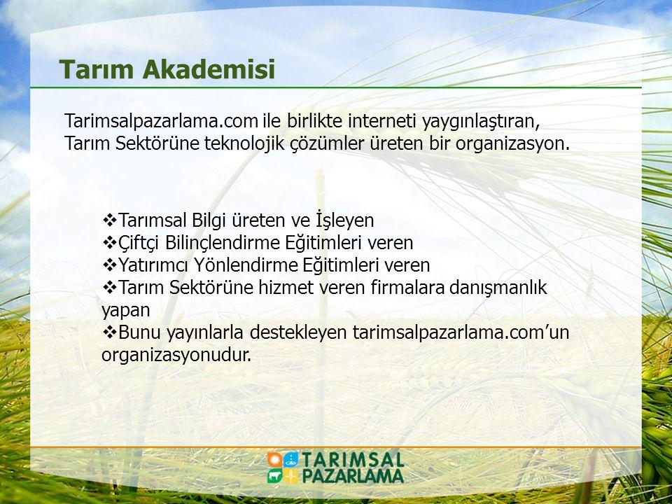 Bilinçli Tarım Bilinçli Çiftçi Tarım Sektörü Artık Teknolojiye ve Bilgiye Daha Yakın