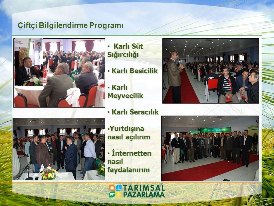 - Bitkisel Üretim Yatırımcıları - Hayvancılık Yatırımcıları Yatırımcı Yönlendirme Eğitim Programı