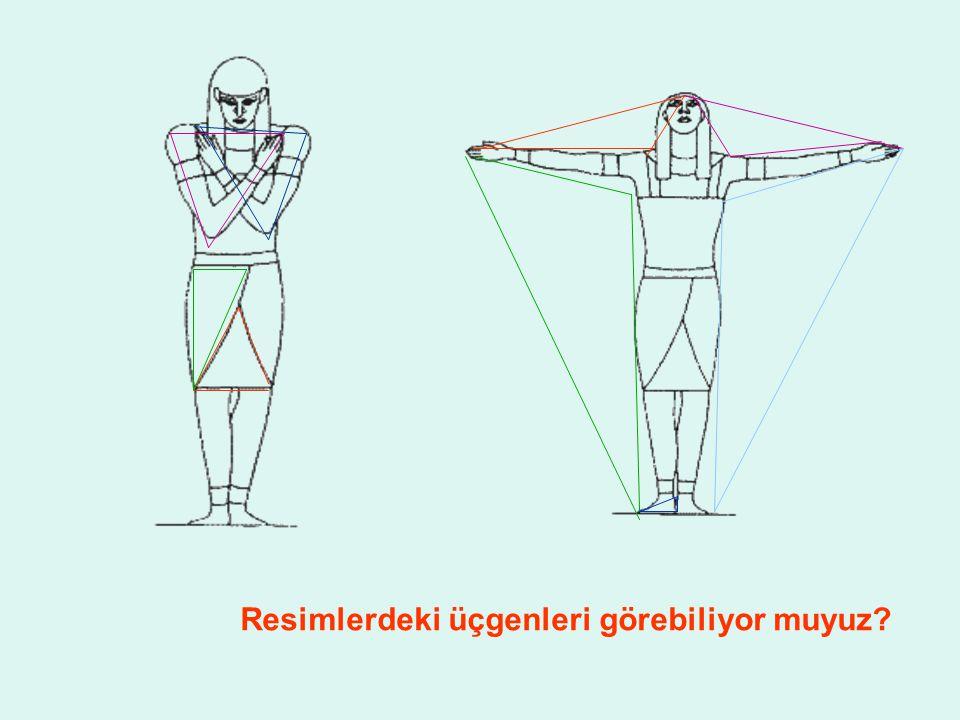 Resimlerdeki üçgenleri görebiliyor muyuz?