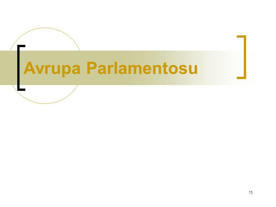 15 Avrupa Parlamentosu