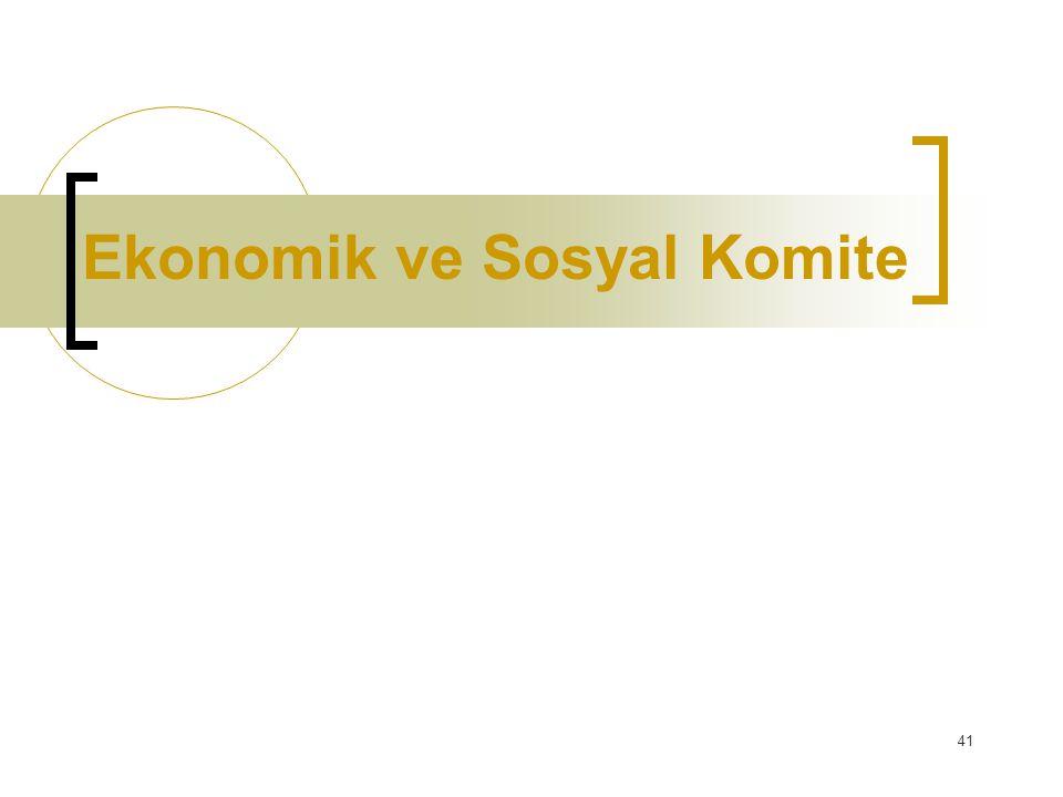 41 Ekonomik ve Sosyal Komite