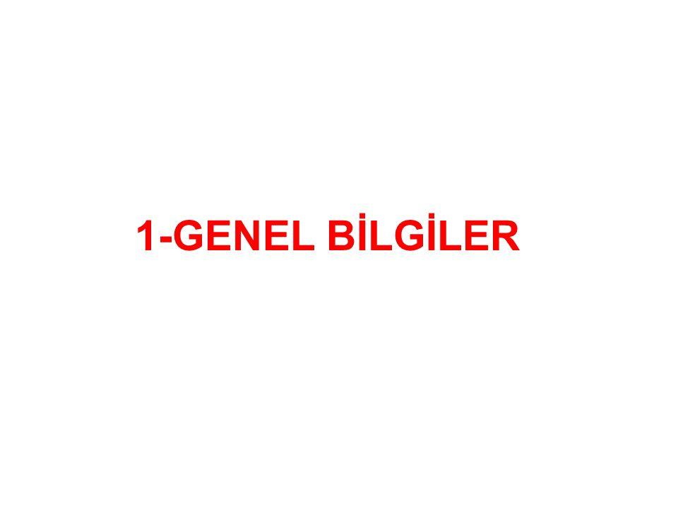 1-GENEL BİLGİLER