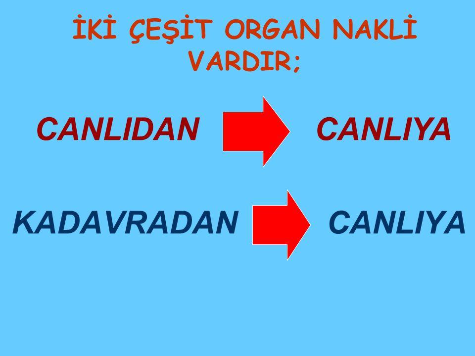 Canlıdan canlıya organ nakli ne demektir.