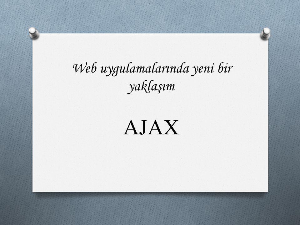 Ajax'ın Dezavantajları  Her tarayıcı için ayrı ayrı kod yazmak gereklidir.