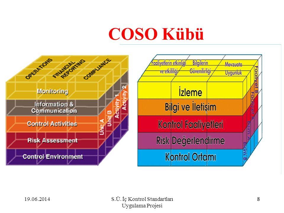 8 COSO Kübü 19.06.20148S.Ü. İç Kontrol Standartları Uygulama Projesi