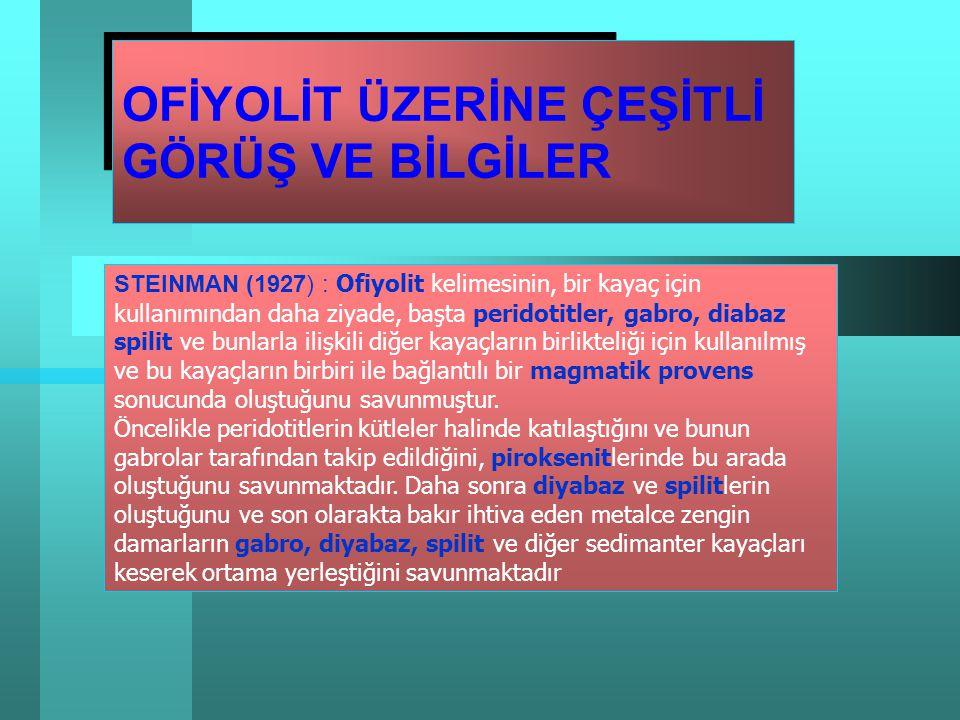 Prof. Dr. Doğan AYDAL aydal@eng.ankara.edu.tr aydal@eng.ankara.edu.tr OfiyolitlerJM505 Ofiyolitler JM505