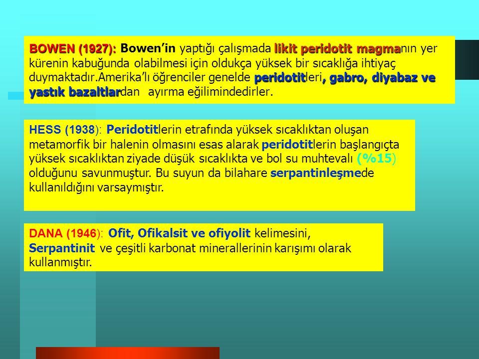 STEINMANN (1906-1927): radyolarit, pelajik kil calpionella STEINMANN (1906-1927): Abisal sedimanterlerin, radyolarit, pelajik kil ve calpionella ihtiv