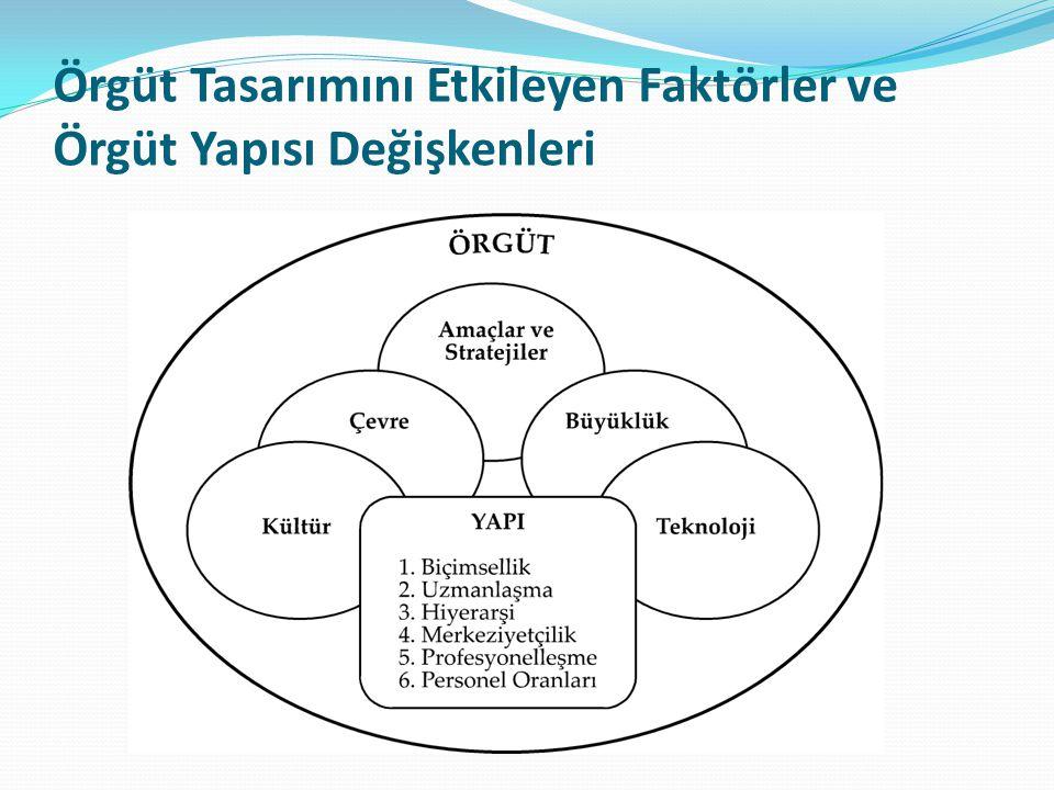 Örgüt Tasarımını Etkileyen Faktörler ve Örgüt Yapısı Değişkenleri