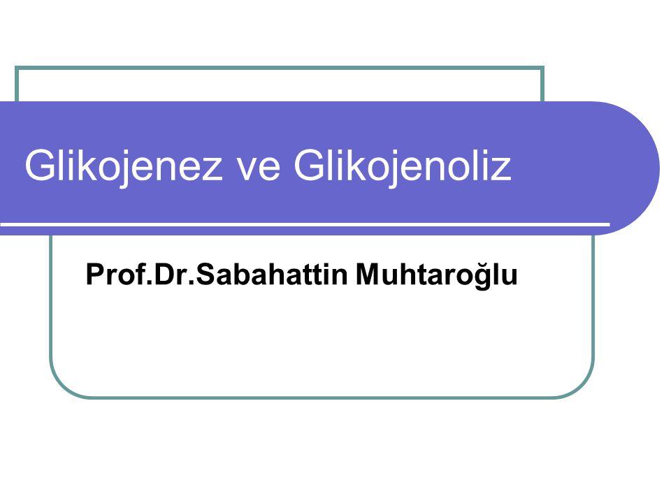 Glikojenez ve Glikojenoliz Prof.Dr.Sabahattin Muhtaroğlu