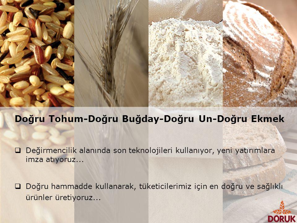 Doğru Tohum-Doğru Buğday-Doğru Un-Doğru Ekmek  Değirmencilik alanında son teknolojileri kullanıyor, yeni yatırımlara imza atıyoruz...  Doğru hammadd