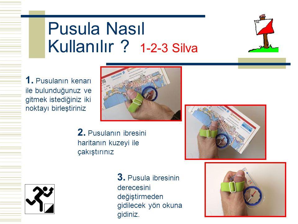 Pusula Nasıl Kullanılır .1-2-3 Silva 1.
