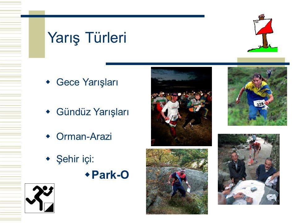 Yarış Türleri  Gündüz Yarışları  Orman-Arazi  Gece Yarışları  Şehir içi:  Park-O