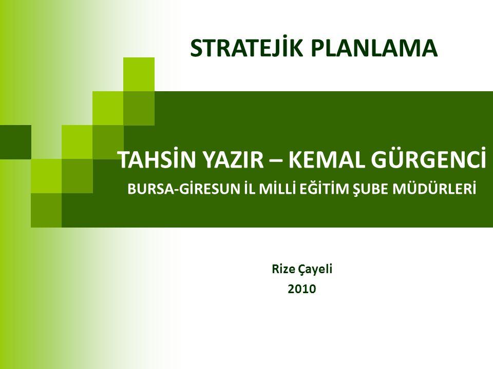 Stratejik Plan Mevzuatı 5018 sayılı Kanunda stratejik plan; kamu idarelerinin orta ve uzun vadeli amaçlarını, temel ilke ve politikalarını, hedef ve önceliklerini, performans ölçütlerini, bunlara ulaşmak için izlenecek yöntemler ile kaynak dağılımlarını içeren plan olarak tanımlanmıştır.