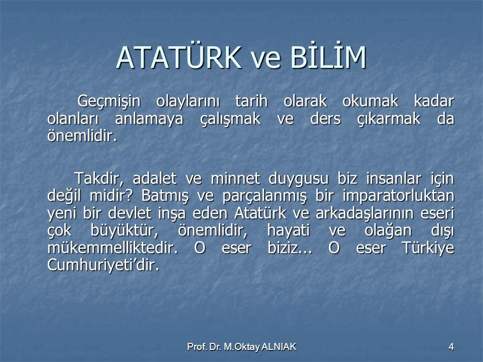 Prof.Dr. M.Oktay ALNIAK35 BİR PROJEDE AKLA GELENLER...