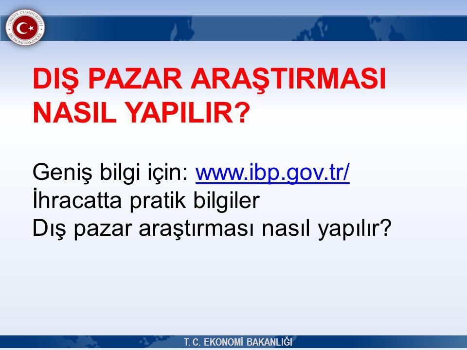 DIŞ PAZAR ARAŞTIRMASI NASIL YAPILIR? Geniş bilgi için: www.ibp.gov.tr/www.ibp.gov.tr/ İhracatta pratik bilgiler Dış pazar araştırması nasıl yapılır? T