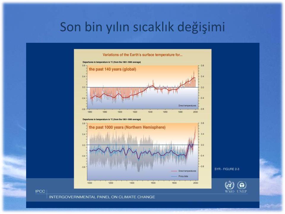 Son bin yılın sıcaklık değişimi