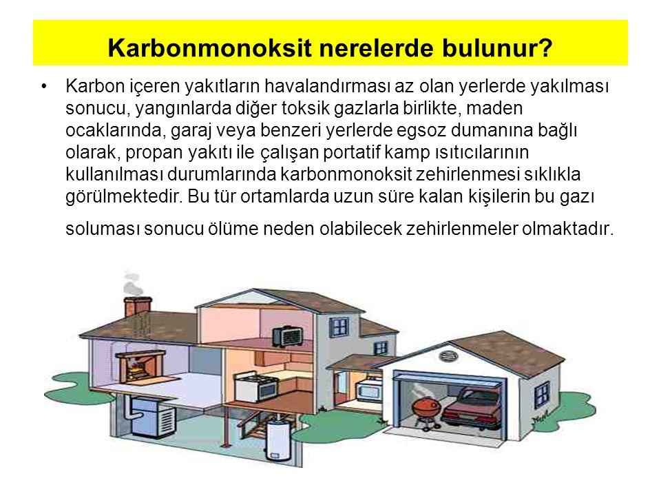 Karbonmonoksit Zehirlenmelerinin Ana Nedenleri •Isıtıcıların gerekli bakımının yapılmaması, •Boruların ve bacaların temizlenmemesi.