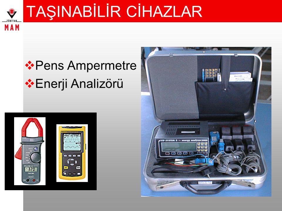 TAŞINABİLİR CİHAZLAR  Pens Ampermetre  Enerji Analizörü