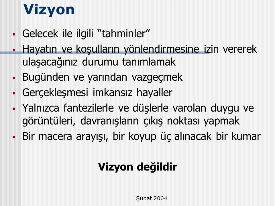 Şubat 2004 Vizyon ifadesi gizli bir belge değildir.