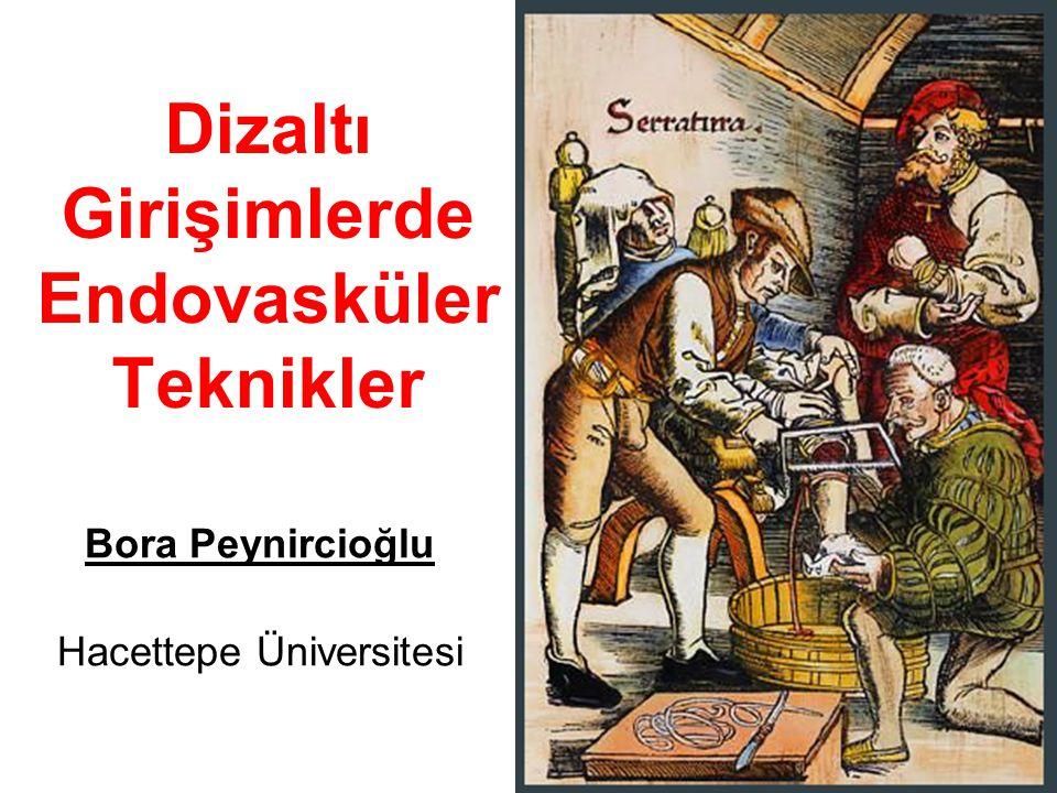 Dizaltı Girişimlerde Endovasküler Teknikler Bora Peynircioğlu Hacettepe Üniversitesi