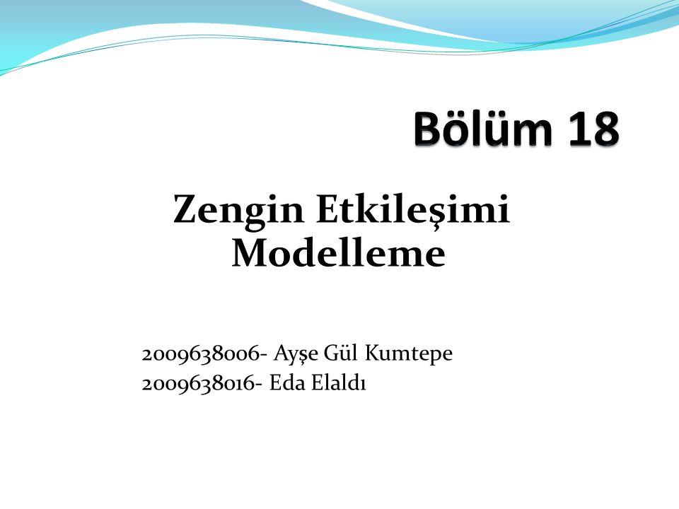 Zengin Etkileşimi Modelleme 2009638006- Ayşe Gül Kumtepe 2009638016- Eda Elaldı