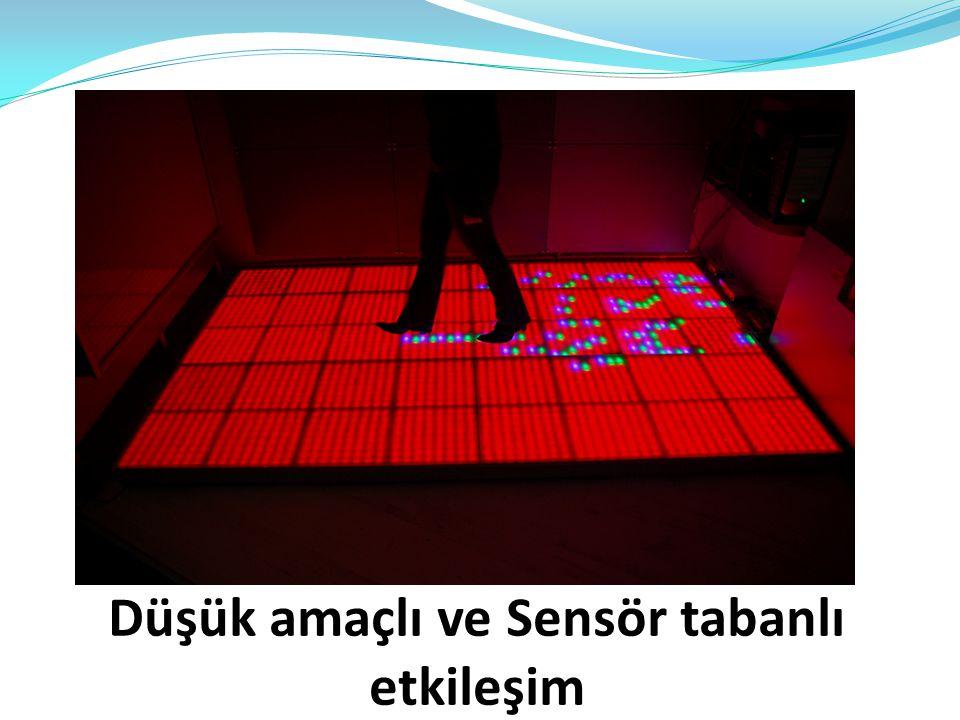 Düşük amaçlı ve Sensör tabanlı etkileşim