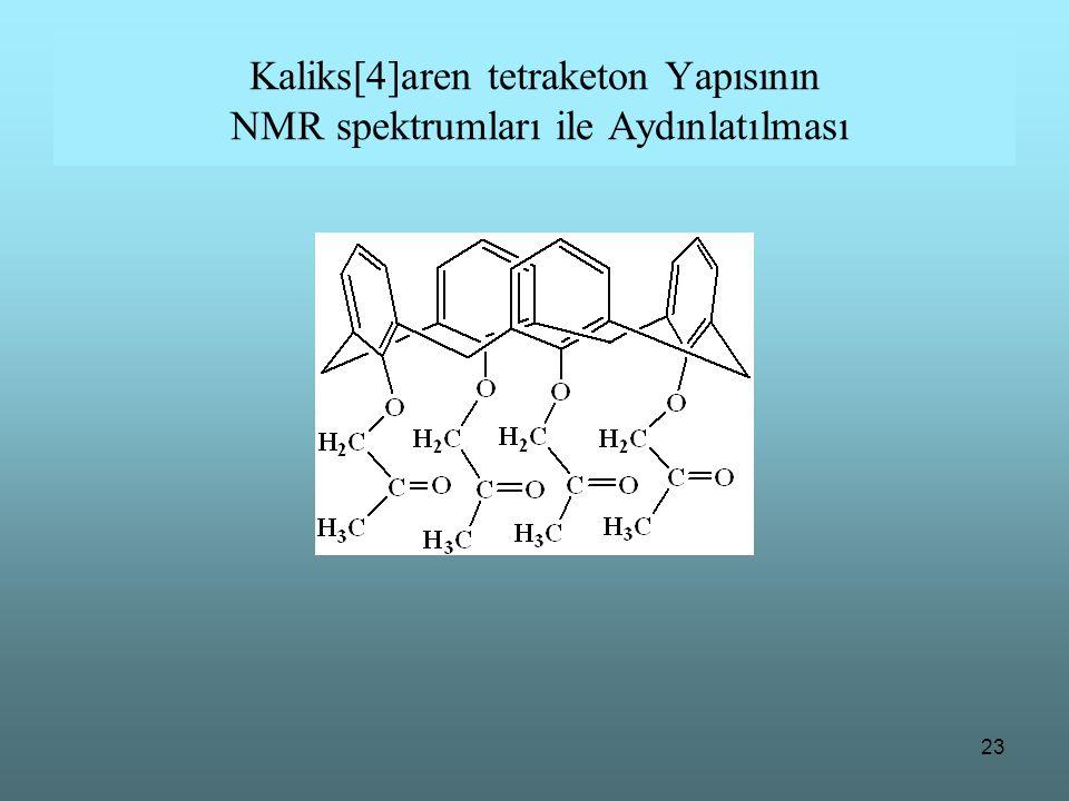 23 Kaliks[4]aren tetraketon Yapısının NMR spektrumları ile Aydınlatılması