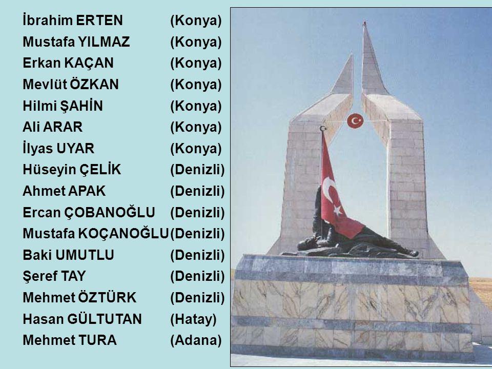 İbrahim ERTEN(Konya) Mustafa YILMAZ(Konya) Erkan KAÇAN(Konya) Mevlüt ÖZKAN(Konya) Hilmi ŞAHİN(Konya) Ali ARAR(Konya) İlyas UYAR(Konya) Hüseyin ÇELİK(D