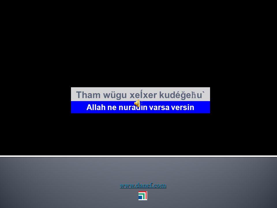 www.danef.com Tham wöğeotej Allah şifa versin