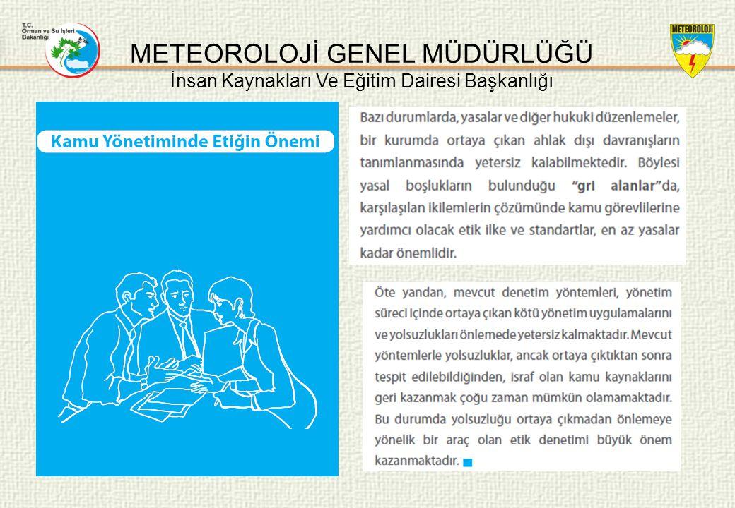 METEOROLOJİ GENEL MÜDÜRLÜĞÜ İnsan Kaynakları Ve Eğitim Dairesi Başkanlığı