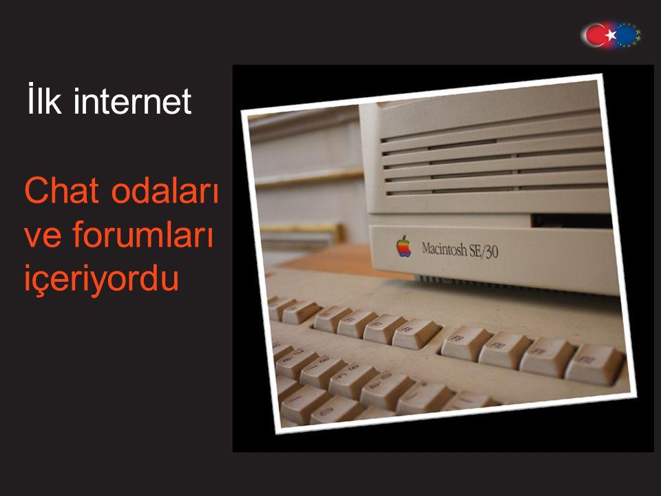 İlk internet Chat odaları ve forumları içeriyordu
