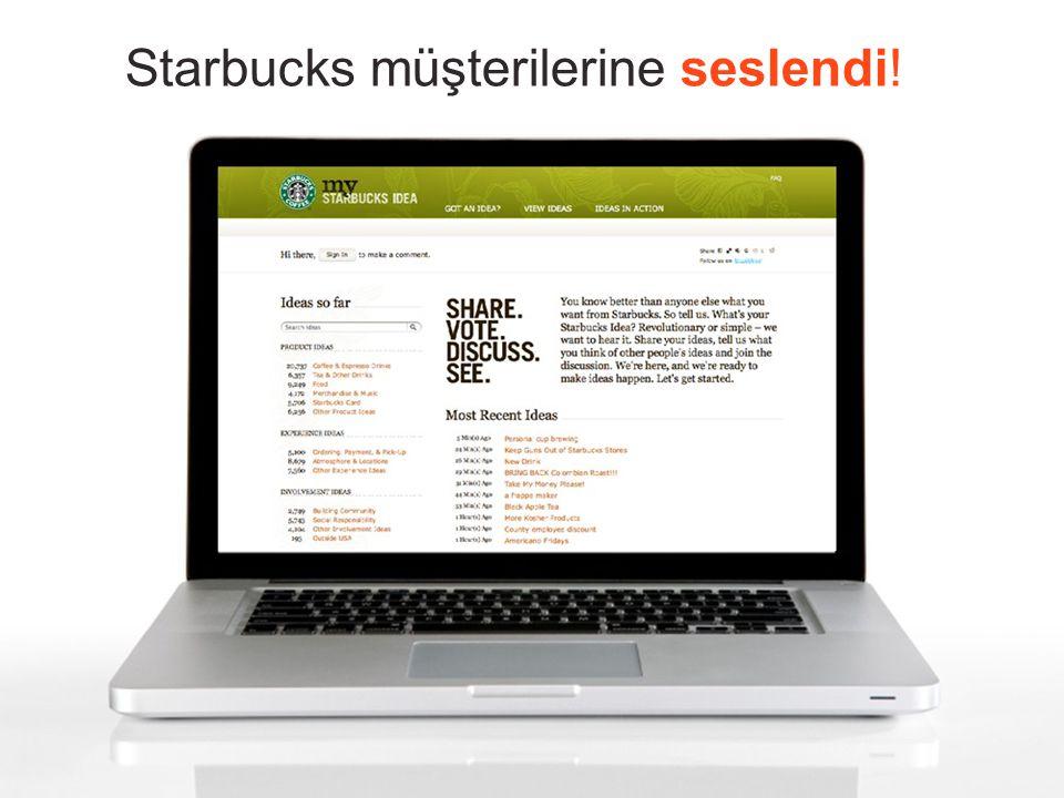 Starbucks müşterilerine seslendi !